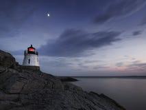 Phare de colline de château [Île de Rhode] Photo stock