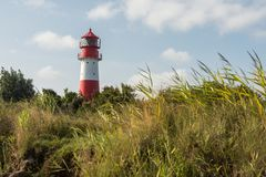 Phare de Falshoeft, mer baltique, Schleswig-Holstein, Allemagne images libres de droits
