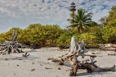 Phare de fer d'îles de Sanibel photographie stock libre de droits