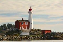 Phare de Fisgard, parc national historique de colline de Rodd de fort, Victoria AVANT JÉSUS CHRIST, Canada Images libres de droits