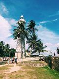 Phare de fort de Galle Photo libre de droits