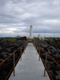 Phare de Garoskagi en Islande Photographie stock