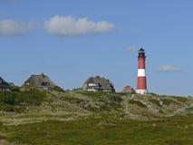 Phare de Hoernum sur l'île de Sylt Photographie stock libre de droits