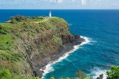 Phare de Kilauea, Hawaï Image libre de droits