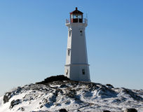 Phare de l'hiver Photos libres de droits