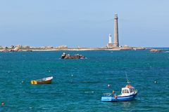 Phare de l'Ile Vierge - Lighthouse in Brittany Stock Photo
