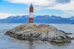 Phare de Les Eclaireurs Stationnement national de Tierra del Fuego photos stock