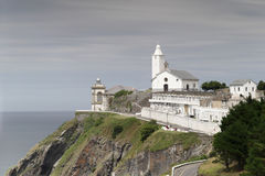Phare de Luarca Photographie stock
