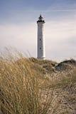 Phare de Lyngvig dans le paysage côtier du Danemark Photos stock
