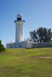 Phare de Macquarie - vue arrière, Nouvelle-Galles du Sud, Australie images stock