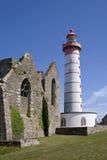 Phare de Mathieu de saint en Grande-Bretagne photographie stock libre de droits