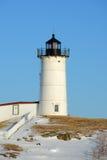Phare de Neddick de cap, vieux village de York, Maine Photographie stock