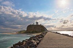 Phare de Newcastle Nobbys Images stock