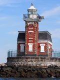 Phare de pierre de progression de bruits du Long Island Images libres de droits