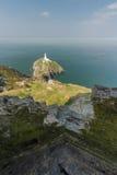 Phare de pile de sud, du poste d'observation côtier de WWII, Angl Photo libre de droits