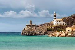Phare de plus unique, Majorque, Espagne Images libres de droits