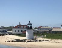 Phare de point de Brant, Nantucket, mA image stock