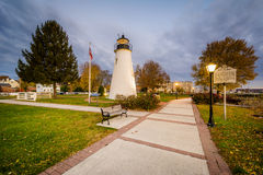 Phare de point d'accord à Le Havre de Grace, le Maryland Photo stock