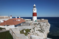 Phare de point d'Europa au Gibraltar Image stock