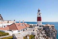 Phare de point d'Europa sur le Gibraltar Image stock