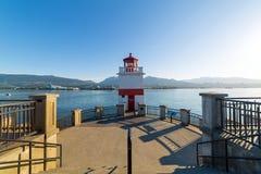 Phare de point de Brockton chez Stanley Park dans de Vancouver le Canada avant Jésus Christ photographie stock