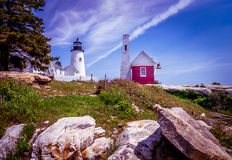 Phare de point de Pemaquid photos stock
