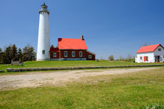Phare de point de Tawas, construit en 1876 photos stock
