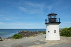 Phare de point de homard dans Ogunquit, JE, Etats-Unis Images stock