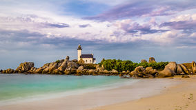 Phare de Pontusval Stock Photos