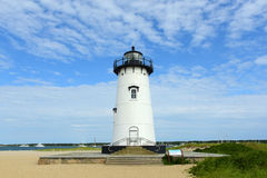 Phare de port d'Edgartown, Martha's Vineyard Photo libre de droits