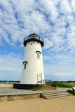 Phare de port d'Edgartown, Martha's Vineyard Photos libres de droits
