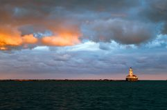 Phare de port de Chicago Photo stock