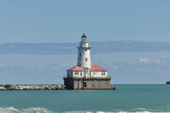 Phare de port de Chicago Photos stock