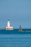 Phare de port de Chicago Images stock