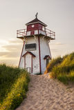 Phare de port de Covehead, PEI Photographie stock libre de droits