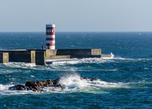Phare de port de Porto Photographie stock