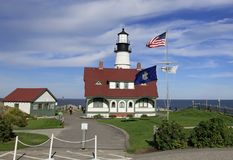 Phare de phare de Portland, Maine Images libres de droits