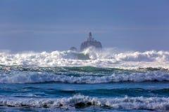 Phare de roche de Tillamook en Orégon Image libre de droits