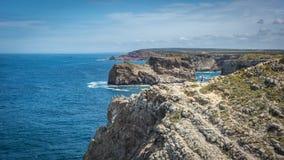 Phare de Saint Vincent de cap dans Algarve, Portugal photos libres de droits
