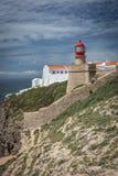 Phare de Saint Vincent de cap dans Algarve, Portugal images stock