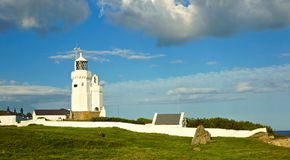 Phare de St Catherine, île de Wight Image stock