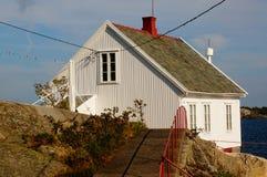 Phare de Stromtangen dans Kragero, Norvège Image stock