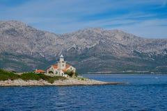 Phare de Sucuraj en Croatie Images libres de droits
