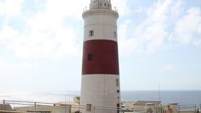 Phare de trinité, point d'Europa, Gibraltar banque de vidéos