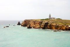 Phare de visibilité directe Morrillos de Cabo Rojo Image libre de droits