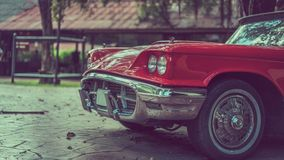 Phare de voiture de vintage conduisant la photo de transport photographie stock libre de droits