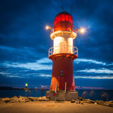 Phare de Warnemunde Photo stock