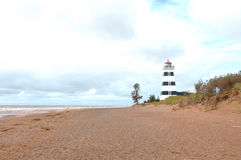 Phare de West Point dans PEI Photo libre de droits