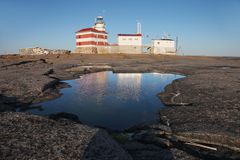 Phare du marché en mer baltique photo stock