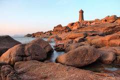 Phare du Men Ruz Royalty Free Stock Photography